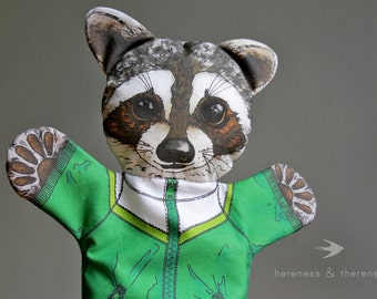 Raccoon Hand Puppet