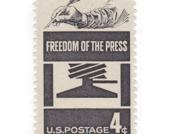 4c Freedom of the Press // 1958 Vintage Unused US Postage Stamps // Qty of 10 // No. 1119
