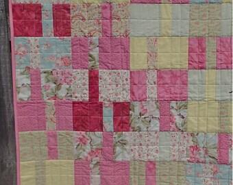 Pastel princess blocks baby quilt