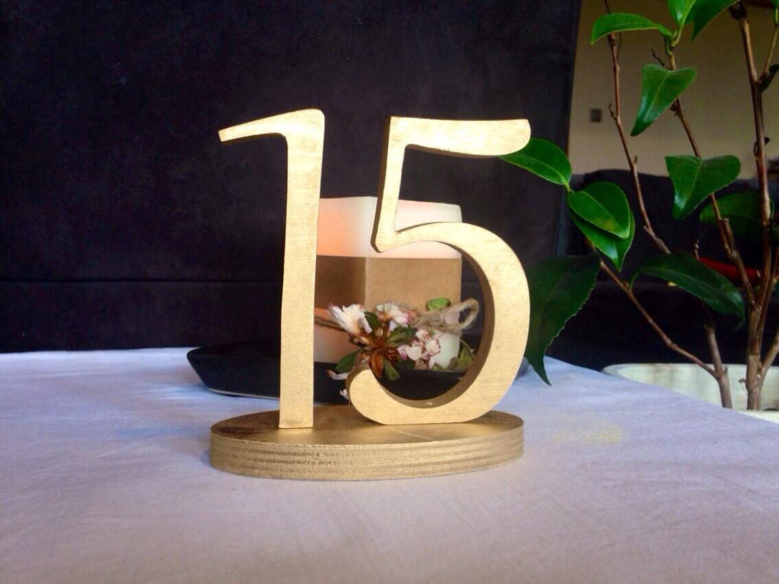 innovative diy wood table numbers 10