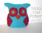 Crochet Small Maia Owl PATTERN - Digital File