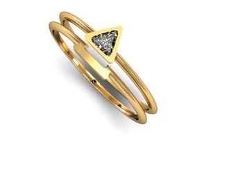 Wedding set. Engagement Ring, Wedding Ring, Promise  Ring, Anniversary Ring,  Diamond Ring, Wedding Band,  Solitaire Wedding Ring.