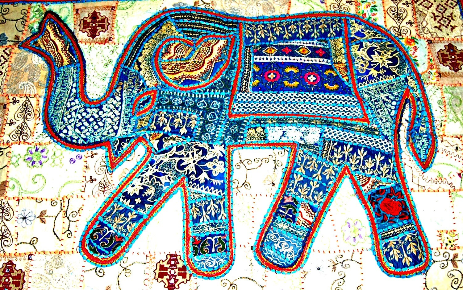 Items similar to india elephant tapestry wall hanging