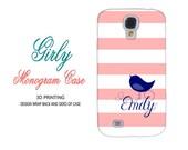coral stripe navy bird samsung monogram 3 4 note s 3 case personalized iphone 5 s case