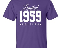 1959 Limited Edition 57th Birthday Party Shirt, 57 years old tshirt, turning 57 gift, 57th birthday gift TH-008