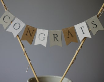 ANY COLOR cake topper banner garland- congratulations, wedding, graduation, congrats, party
