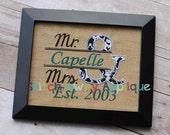 Split Ampersand Mr. and Mrs. Machine Applique Design