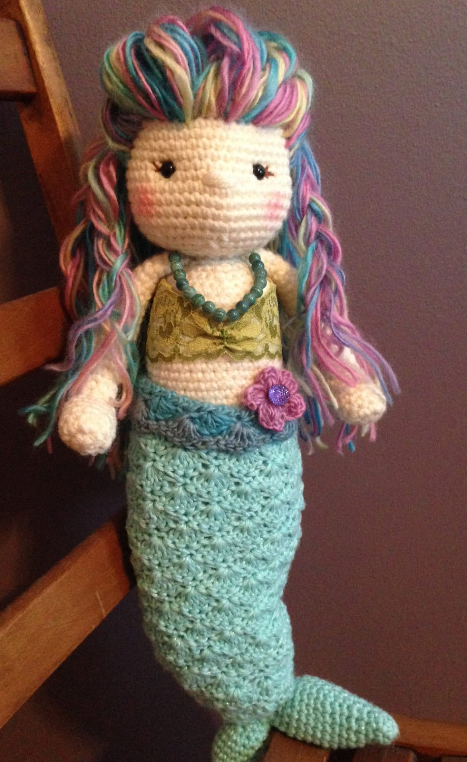 Crocheted Amigurumi Mermaid Doll Plush Plushie by ...