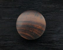 Pair of Brown Sono Wood Plugs Hand Made Organic 4ga 2ga 0ga 00ga 12mm 14mm 16mm 19mm 22mm 24mm 28mm 30mm 1/2 9/16 5/8 3/4 7/8 1inch 1/8 3/16