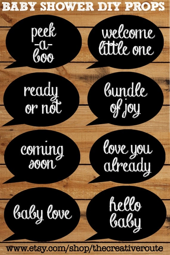 props chalkboard printable 8 page pdf with photo booth props chalk