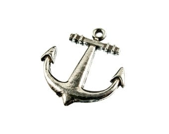Nautical Anchor Charm or Anchor Pendant for Nautical Collections 5 pcs - See Photos For Other Finish Options