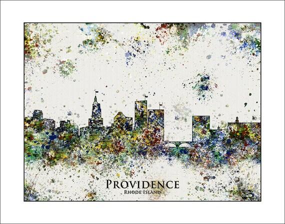 PROVIDENCE Skyline Providence RHODE ISLAND Map By