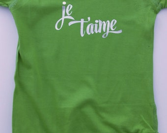 Baby - Je T'aime Baby Onesie - 12 Months - ReadyToShip