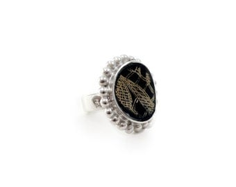 Black rings for women, elegant rings for women, ring for me, affordable sterling silver ring, boho chic ring, grandmother gifts ideas