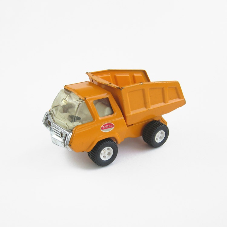 Ann es 1960 tonka camion benne chargeur dumper orange noir - Camion benne tonka ...