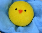 Little Yellow Chick, All-Natural Felted Wool Ball for Babies and Children, Sweet Little Holiday Gift by Song and Season