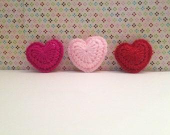 Crochet heart Stuffed heart amigurumi valentine
