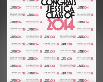 6x7 FabVinyl Graduation Party Backdrop For High School Or