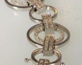 14k White Gold Bracelet set with Diamonds 1.84 Carats    with free shipping.      m104086.