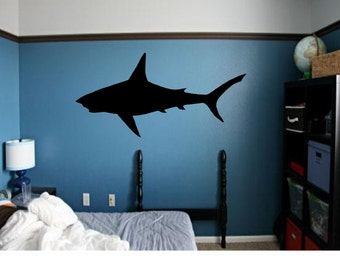 Shark Decal - Great White Shark Wall Art - Shark Week - Shark Decor - Large Shark