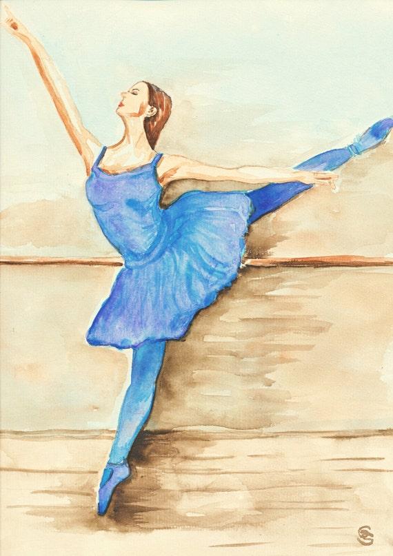 ballerina dancer wall decor ballet dancer dance art artwork