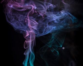 "Smoke Abstract Photography Print Fine Art Decor ""Haunt"""