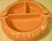 Hankscraft Porcelain Baby Food Divided Dish Warmer Vintage Hot Water Filled #893