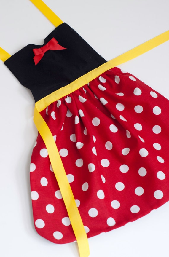 Minnie Mouse Dress Up Apron For Toddlers And Little Girls