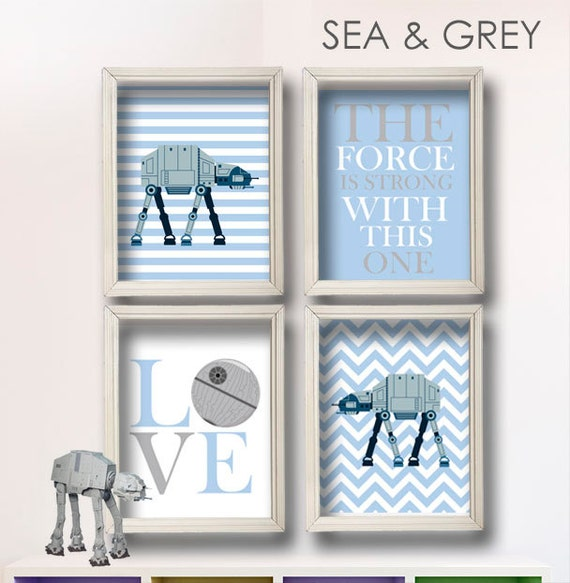 items similar to baby boy star wars nursery art boy room decor star wars decor baby. Black Bedroom Furniture Sets. Home Design Ideas