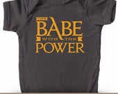 The Babe With The Power -  Labyrinth Inspired Unisex Baby Bodysuit for Super Stylish Kids