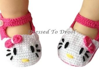 Crochet Hello Kitty Baby Shoes - Photo Props