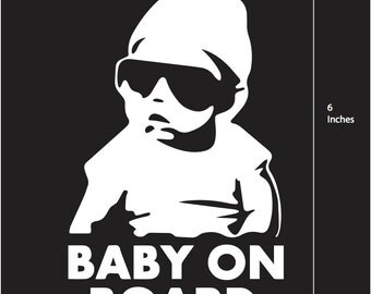 """Hangover Baby on Board Vinyl Decal """"Baby Carlos"""" Vehicle Decal - Various Colours"""