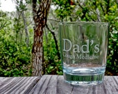 Etched whiskey or scotch glass DOF just for Dad