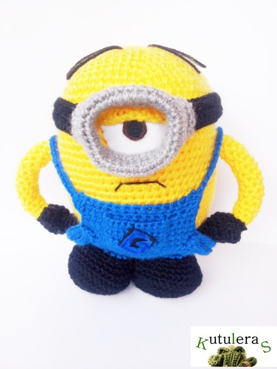 Amigurumi Minion Etsy : DESPICABLE MINION AMIGURUMI 9 1/2 inspired gru by Kutuleras