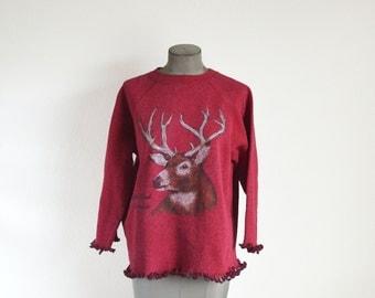 Vintage Sweatshirt Deer Estes Colorado