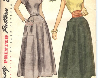 Simplicity 2902 UNCUT Forties Misses' One Piece Dress Sewing Pattern ID554