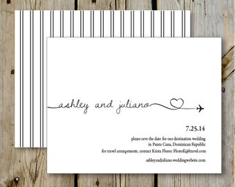 Destination Wedding Save the Date- Print Yourself or Add a Print Package