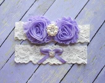 Garter Set, Purple Garters, Lavender Garters, Garter Wedding, Garter, Light Purple Garter, Leg Garter, Bridal Garter Set, Custom Garter