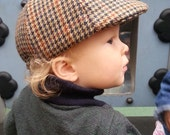 Ivy cap / Upcycled wool flat cap / toddler cap / winter hats / newsboy cap / Vintage look and handmade quality / wool cap / accessories
