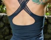 Faith Yoga Tank Top In Dark Teal for Womens Summer Fashion Festival Wear  Boho Chic Summer Gift