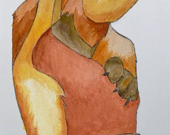 Brown Bear 4 Watercolor Painting