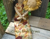 Primitive Sunny Sunflower doll