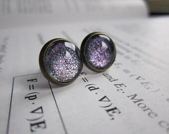 Higgs Field  - Earring studs - science jewelry - science earrings - galaxy jewelry - physics earrings - fake plugs - plug earrings - nebula