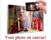30% OFF! LARGE Your Photo Print on Canvas custom printing own picture image poster giclee