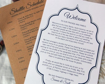 free wedding welcome letter template