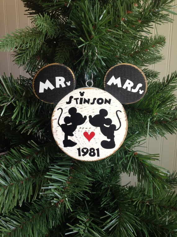 Our First Christmas Ornament Disney Wedding By CelebrateOrnaments