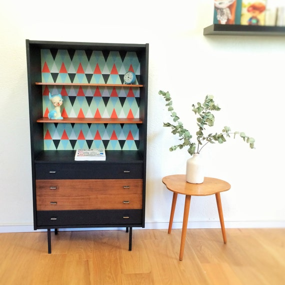 Meuble de rangement biblioth que commode vintage ann es - Commode bibliotheque meuble ...