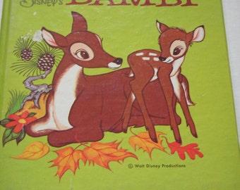 Walt Disney's BAMBI book  A Tell a Tale Book 1972 children's storybook