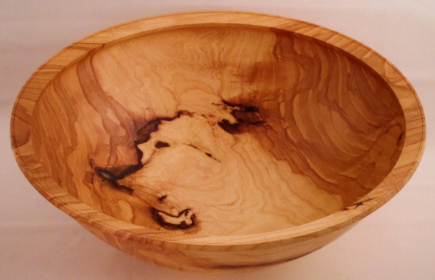 Centerpiece ash fruit bowl wooden fine by eccentricoldguy