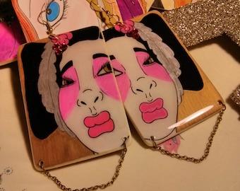 Yu Goh Geisha Graffiti Earrings